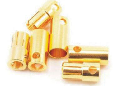 B001 6.0mm Gold Bullet Connector Banana Plug For ESC Battery Motor