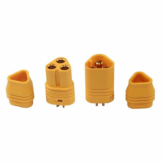Amass MT60 3.5mm Yellow Plug Male Female A Pair for RC plug Airplane or RC ESC L