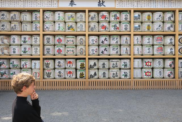 Stacked Sake - Kamakura, Japan