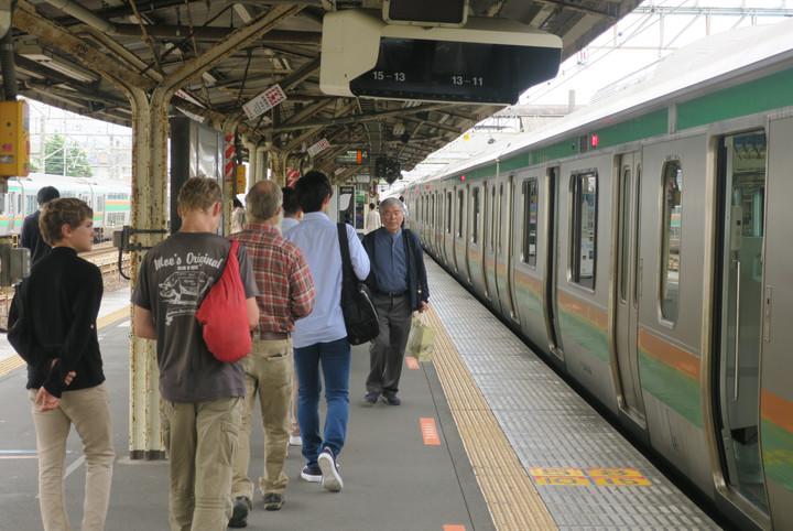 Adventures on the Train - Odawara, Japan