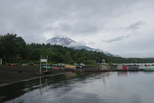 Fuji... Finally - Lake Yamanaka, Japan