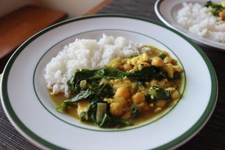 tofu spinach curry