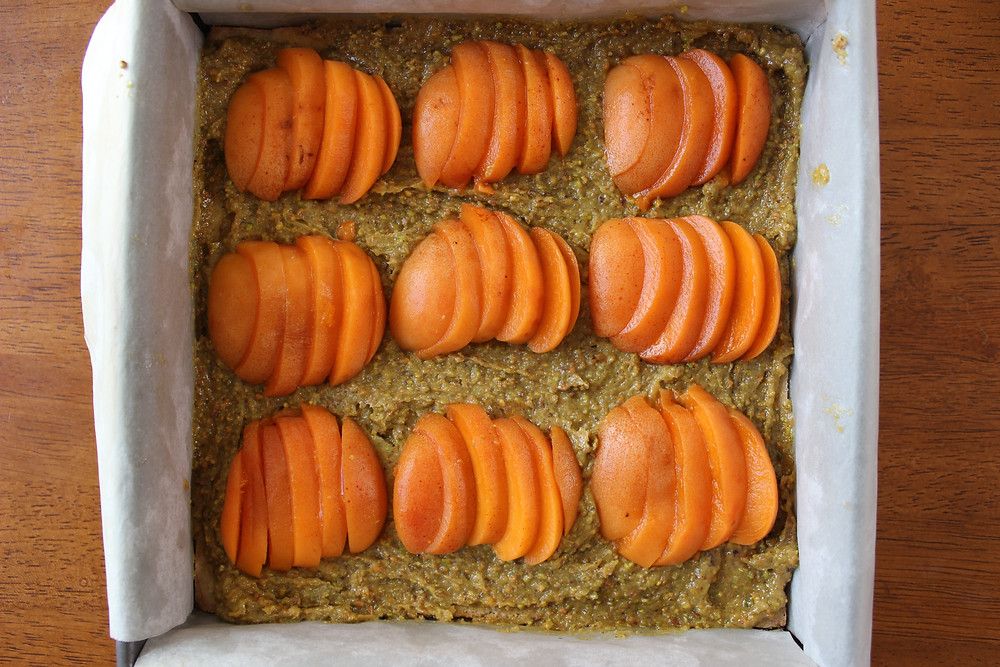 adding apricots