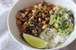 sofritas bowl (vegan)