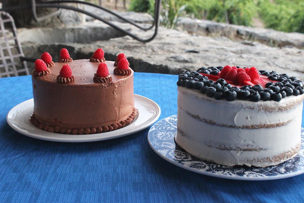 raspberry and sponge cake