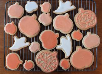 Fall spiced Halloween sugar cookies