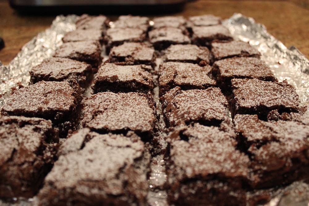 brownies cut