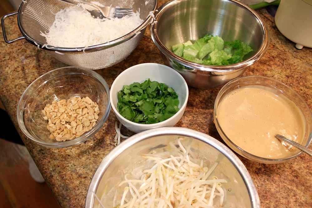assembling the bowls
