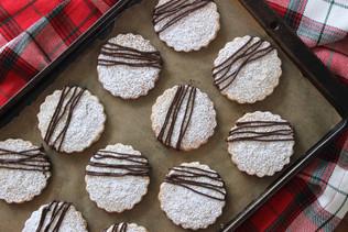 Gluten-Free Chocolate Pecan Shortbread Cookies