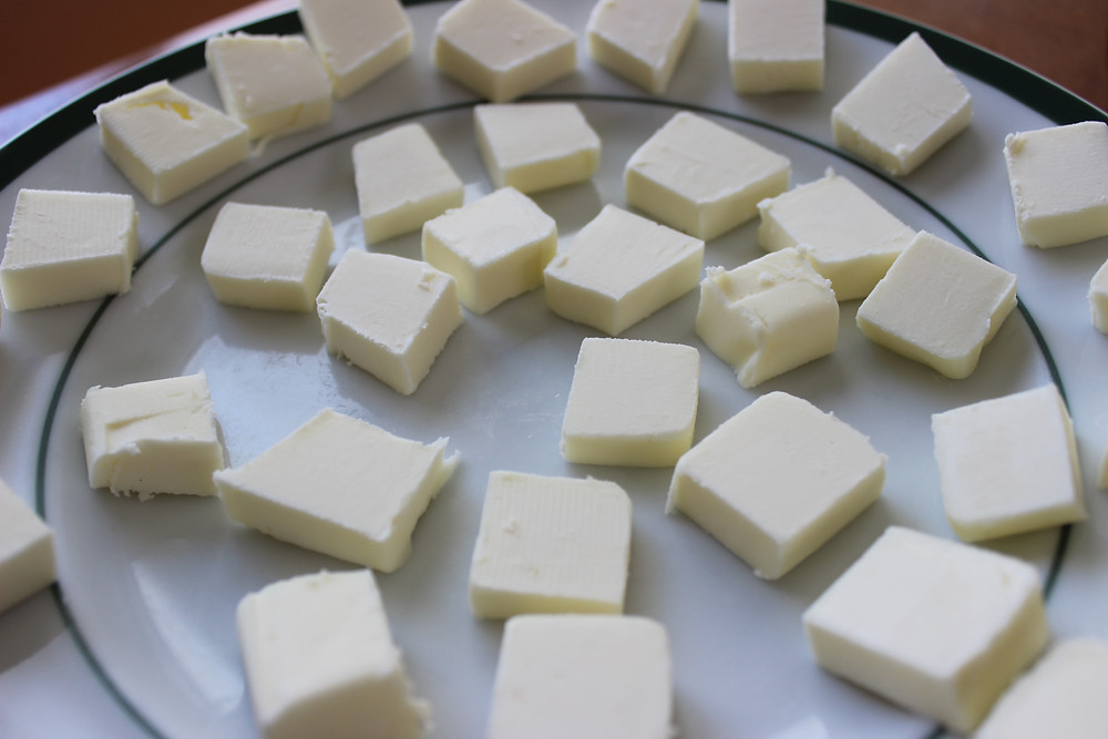 butter cut into small pieces