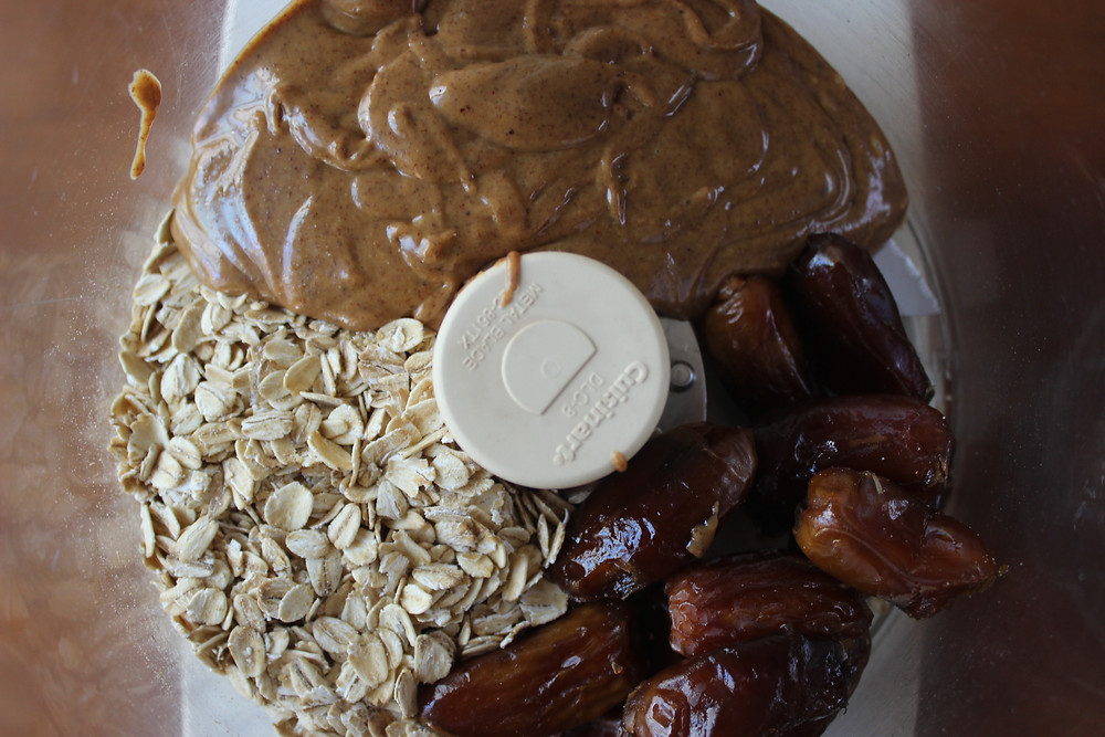 oats, almond butter and dates