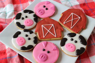 farm animal sugar cookies