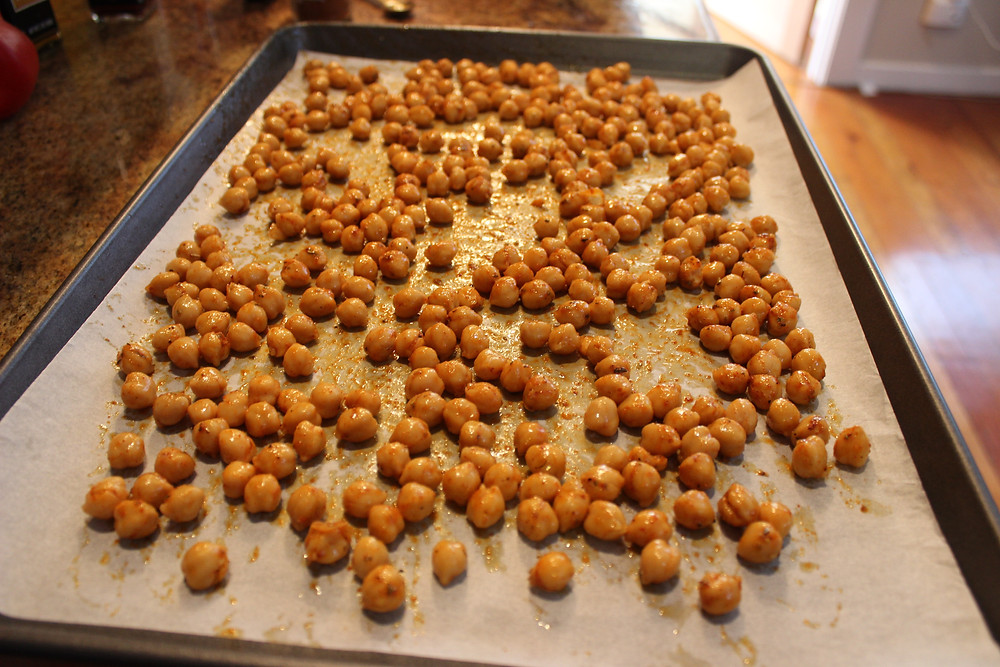 chickpeas before putting in oven