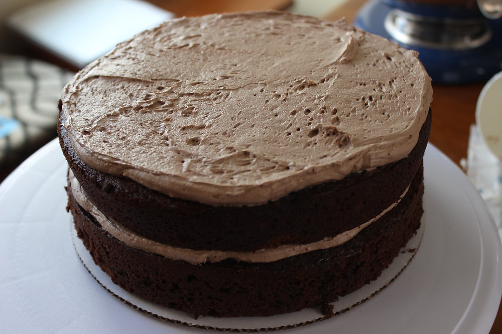 frosting each layer