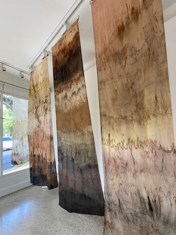3 m Dyescapes soaked in Natural Dye