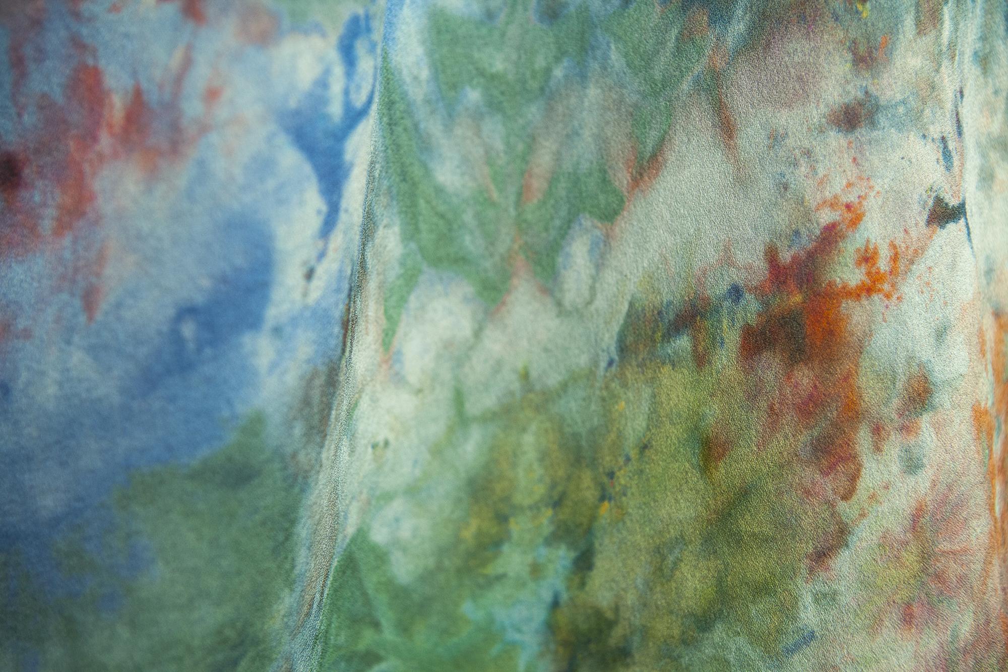 Poppy ice dyeing