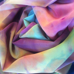 Fluid, colourful drapes