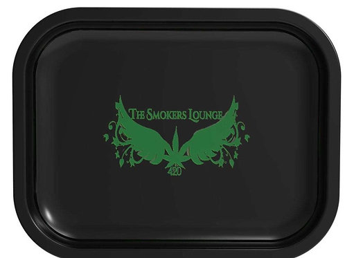 BLACK METAL ROLLING TRAY