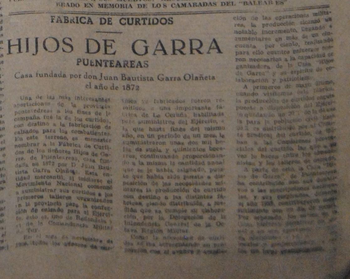 "Curtidos ""Hijos de Garra"""