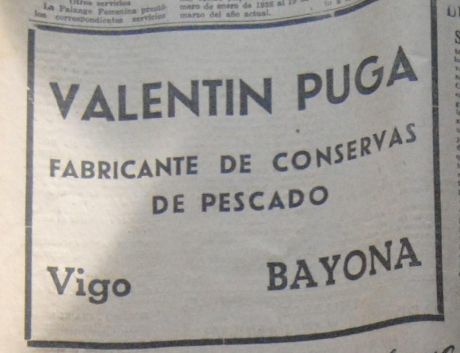Valentin Puga, conserveira.