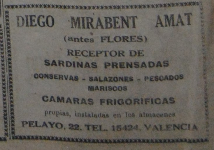D. Mirabent, tratante de conservas.