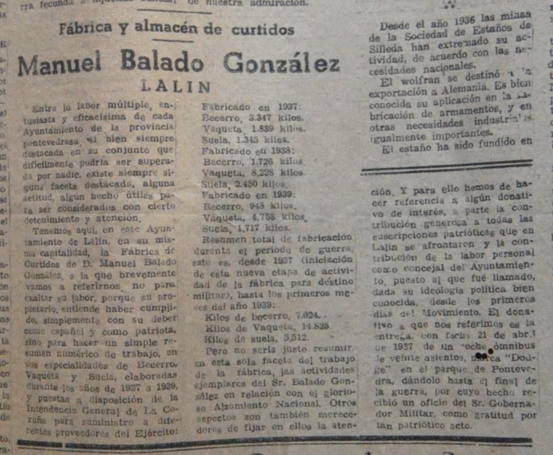 "Curtidos ""Manuel Balado González"""