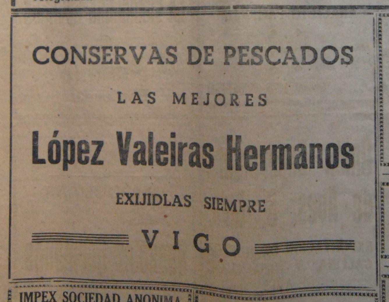 López Valeiras Hnos., conserveira.