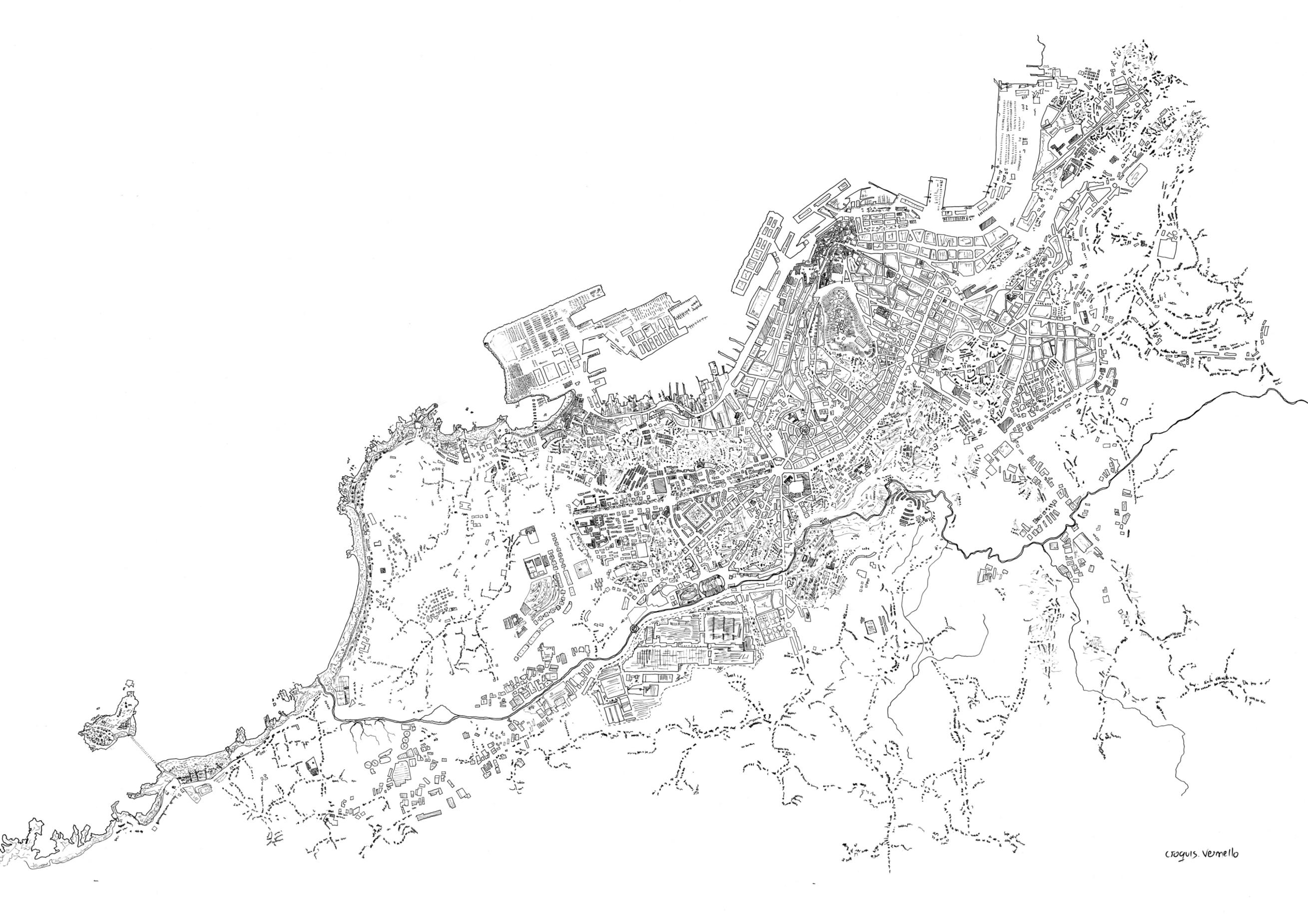 Mapa cidade de Vigo