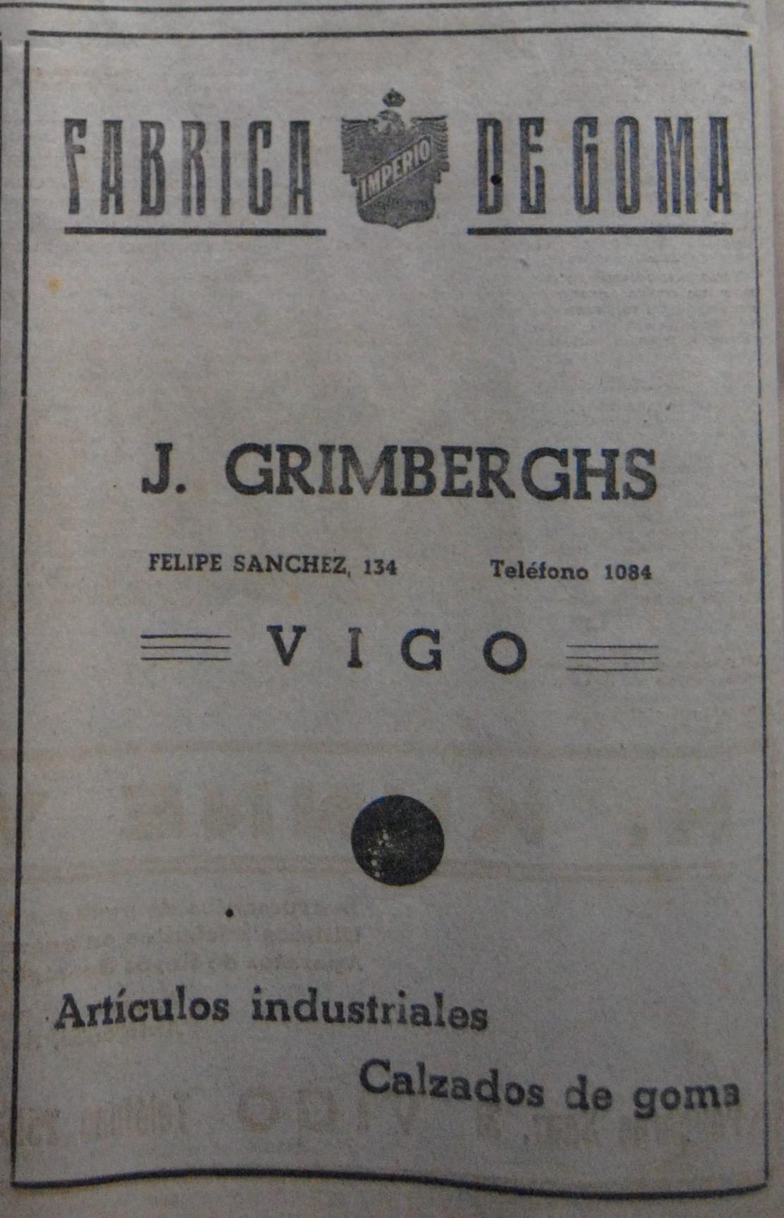 J. Grimberghs, fábrica de goma.