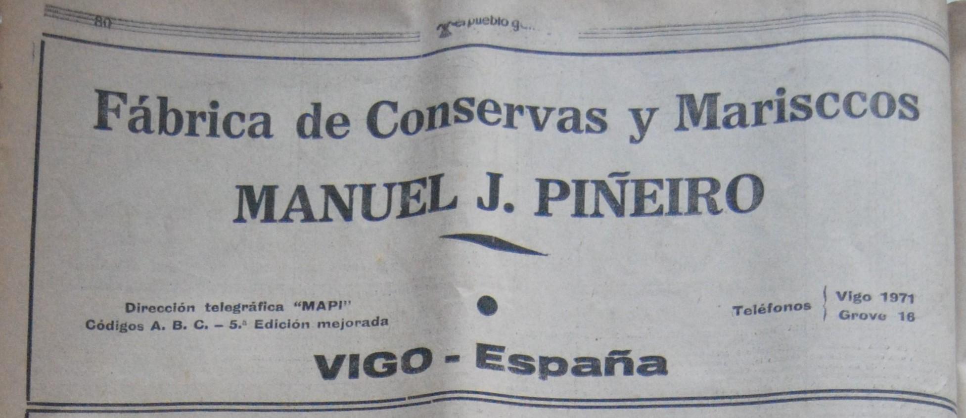 Manuel J. Piñeiro, conserveira