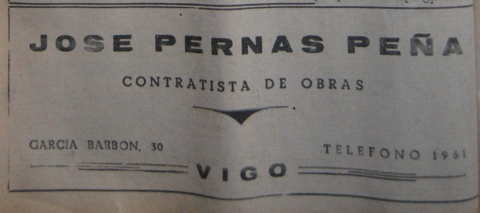 José Pernas Peña, contratista
