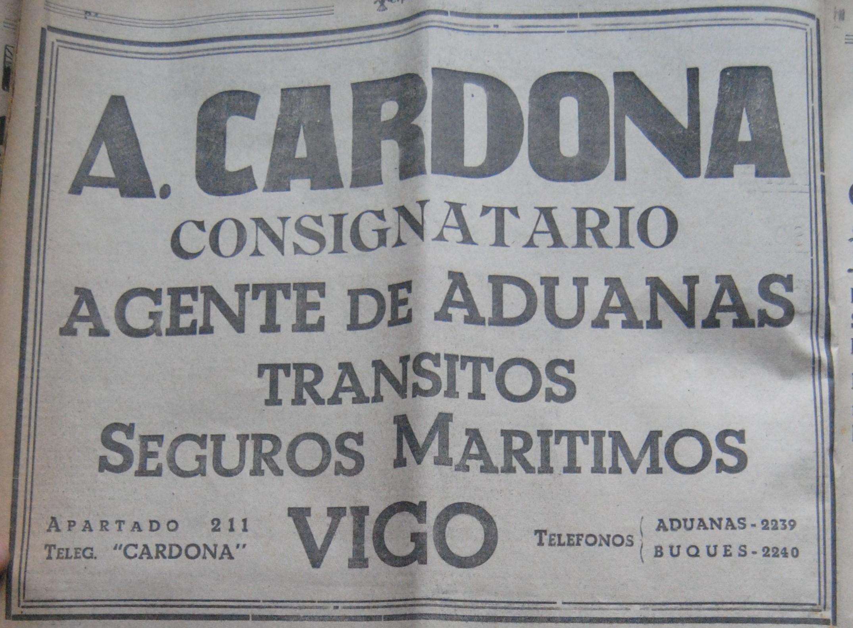Cardona, consignatario