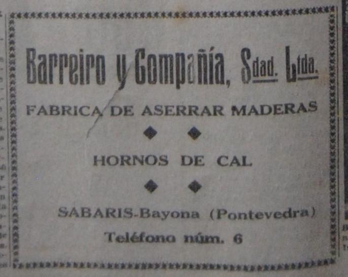 """Serradoiro de """"Barreiro & Cía."""""""