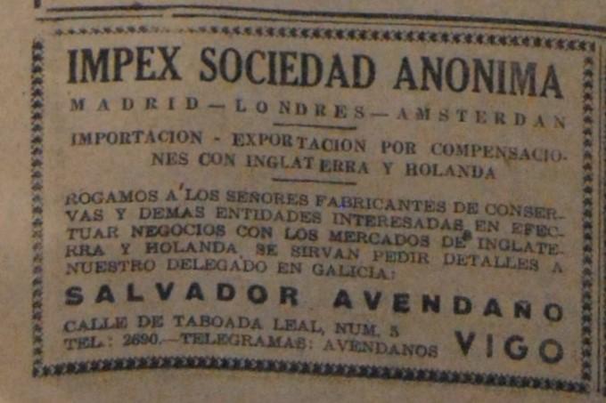 Impex S.A., axente comercial