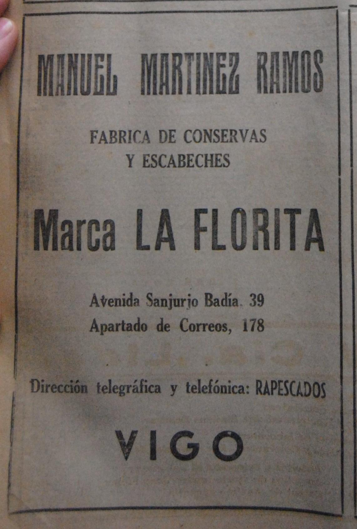 """""""La Florita"""", conservas."""