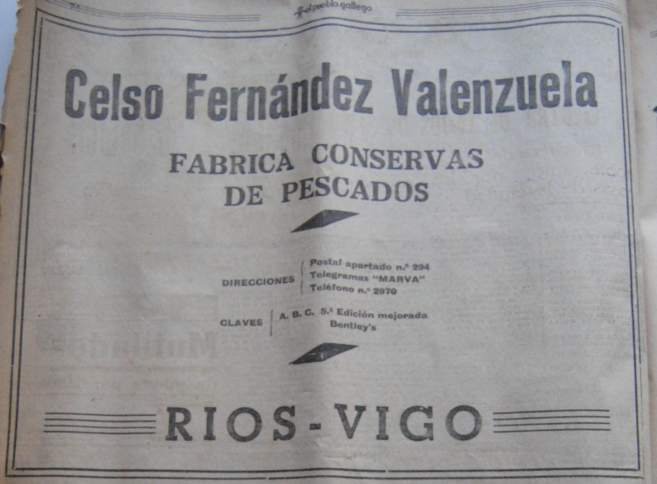 Celso Fdez. Valenzuela, conserveira