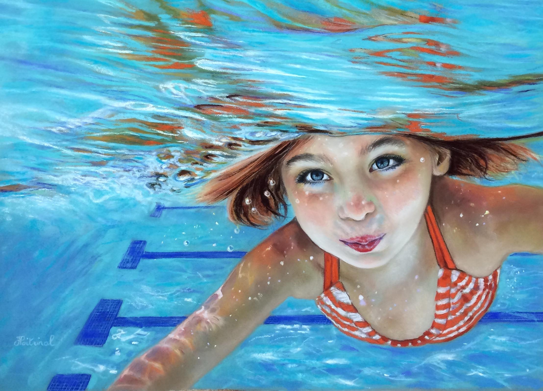 Emma se jette à l'eau