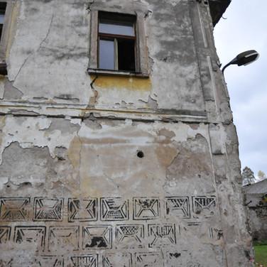 Detail čelní fasády