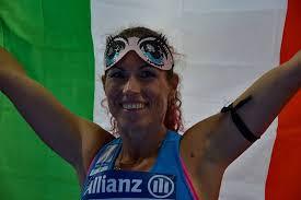Arjola Dedaj atleta non vedente che gareggia nei 100 e 200 metri e nel santo il lungo.