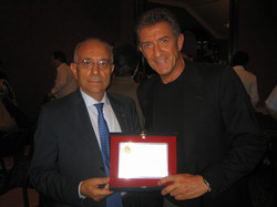 Francesco Vivacqua e Ezio Greggio