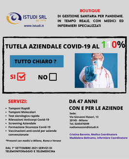 TUTELA AZIENDALE COVID-19 AL 110%