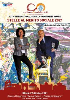 Stelle al Merito Sociale 2021 - Gli eroi silenziosi premiati a Roma da Cultura&Solidarietà