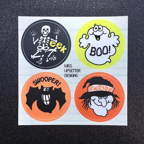 Reproduction Retro Halloween Stickers