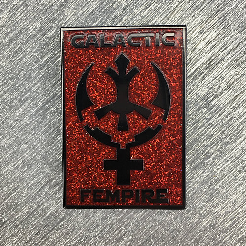 SECONDS: Sith Glitter Galactic Fempire Enamel Pin