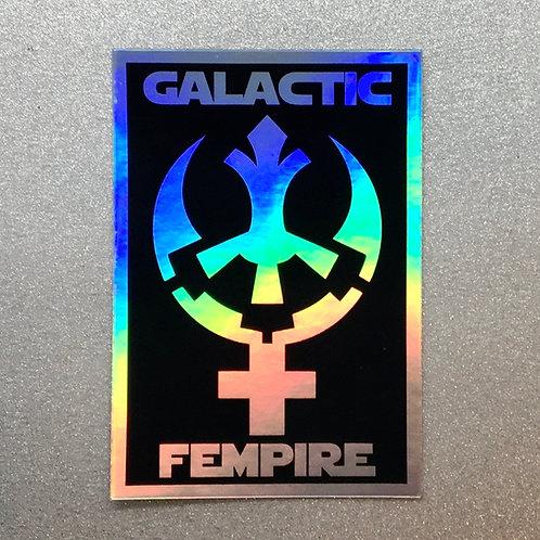 Holographic Galactic Fempire Sticker
