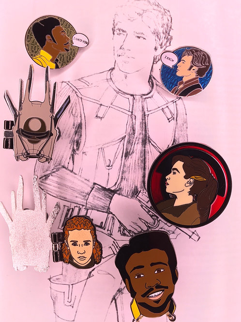 "Entire ""Solo"" Enamel Pin Collection"