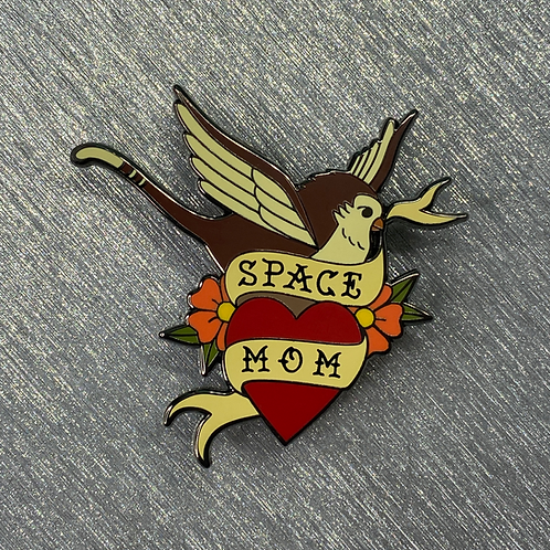 Space Mom Tattoo Pin