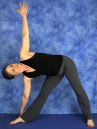 Emily Models Triange Pose