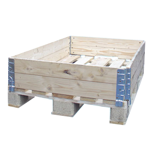Pallet collars euro size stackable