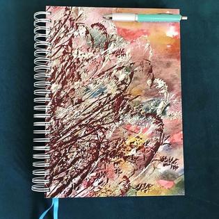 Textiles Print Design on a Notebook
